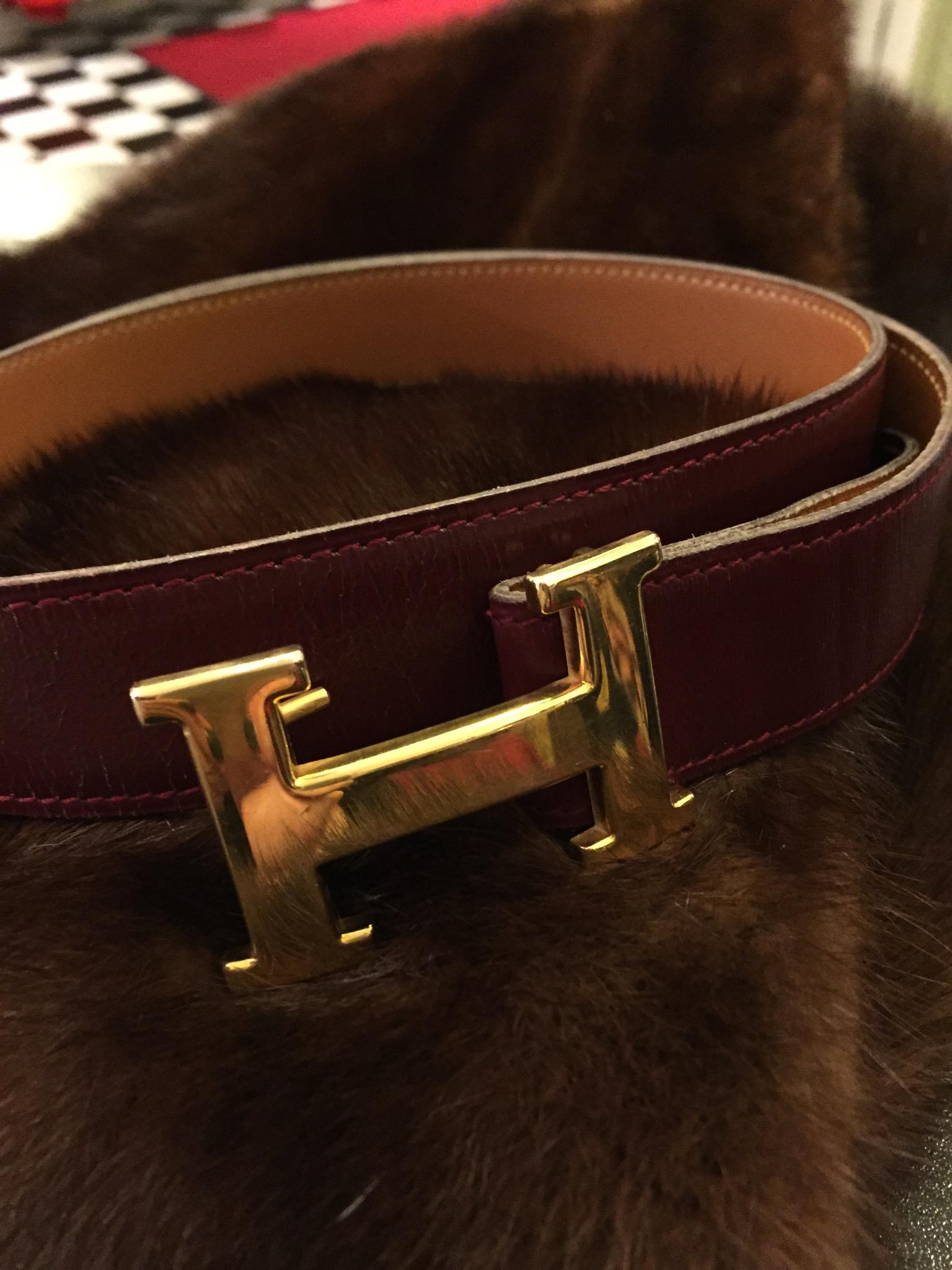 Hermes Bälte Vintage