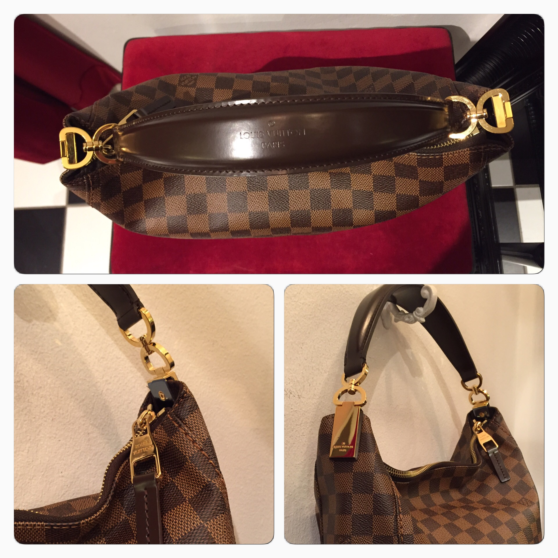 "Louis Vuitton ""Portobello PM Damier"" Väska"