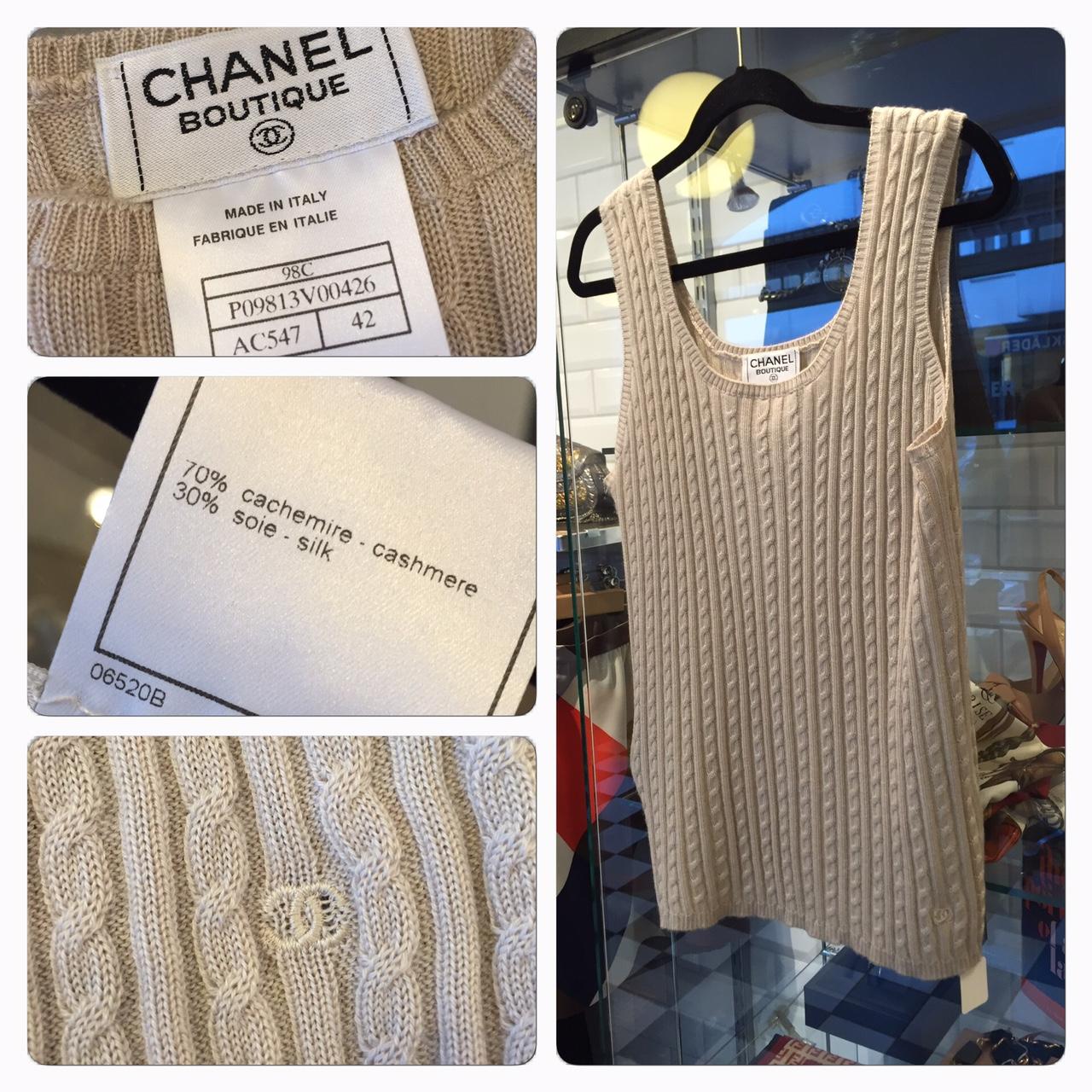 Chanel Stickad Pullover Väst