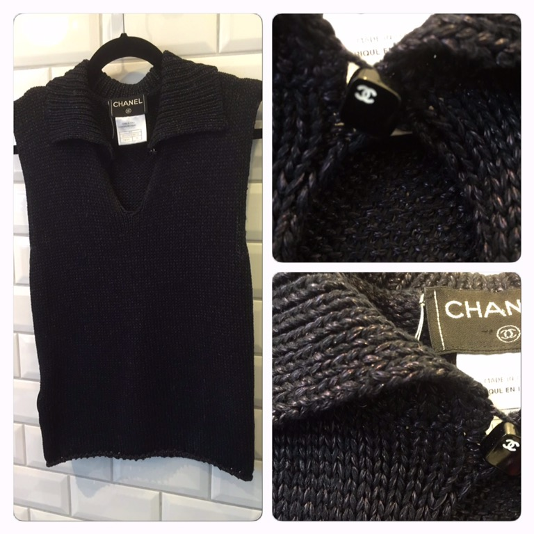 Stickad Chanel Top