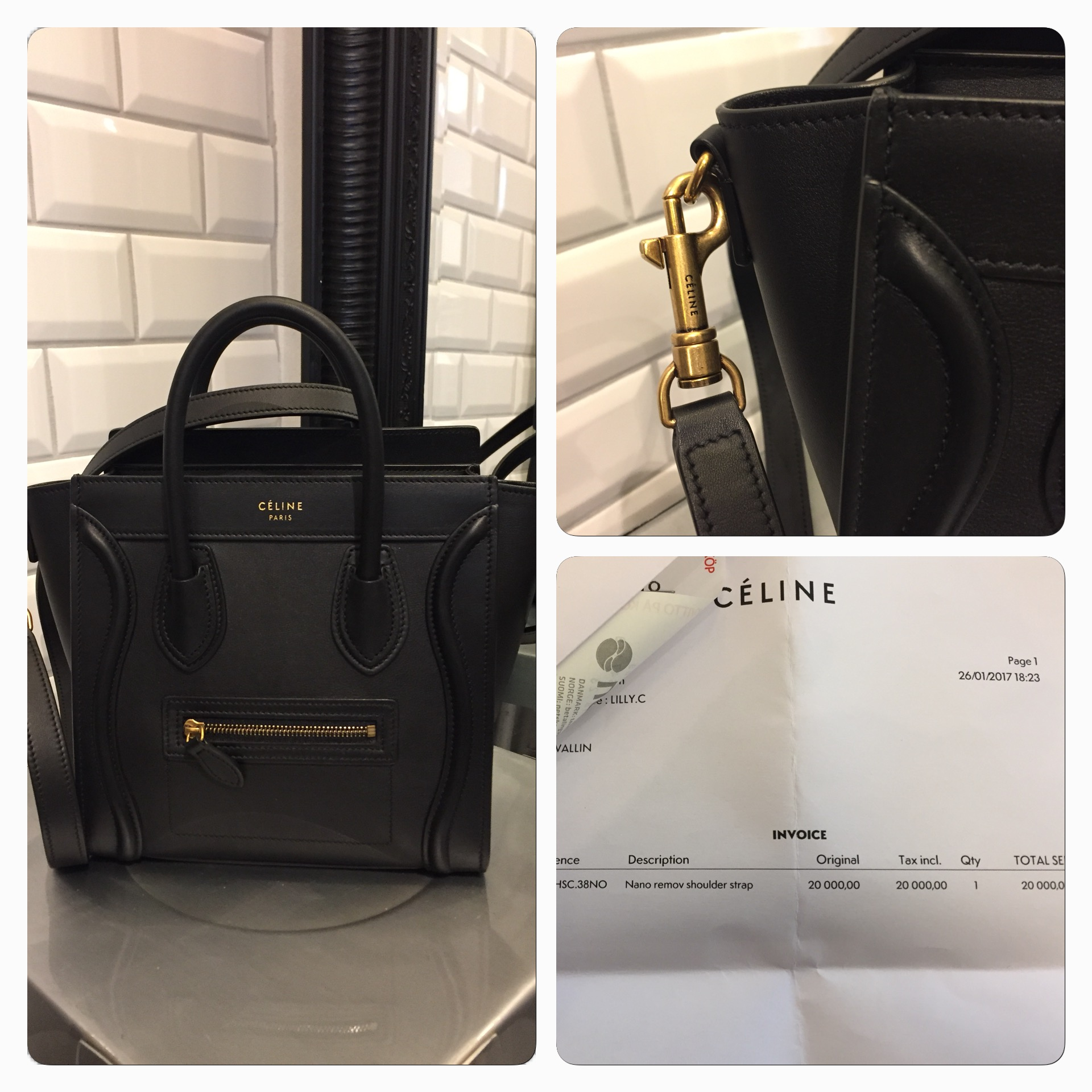 "Celine ""Nano Removable Shoulder Bag"" SÅLD"