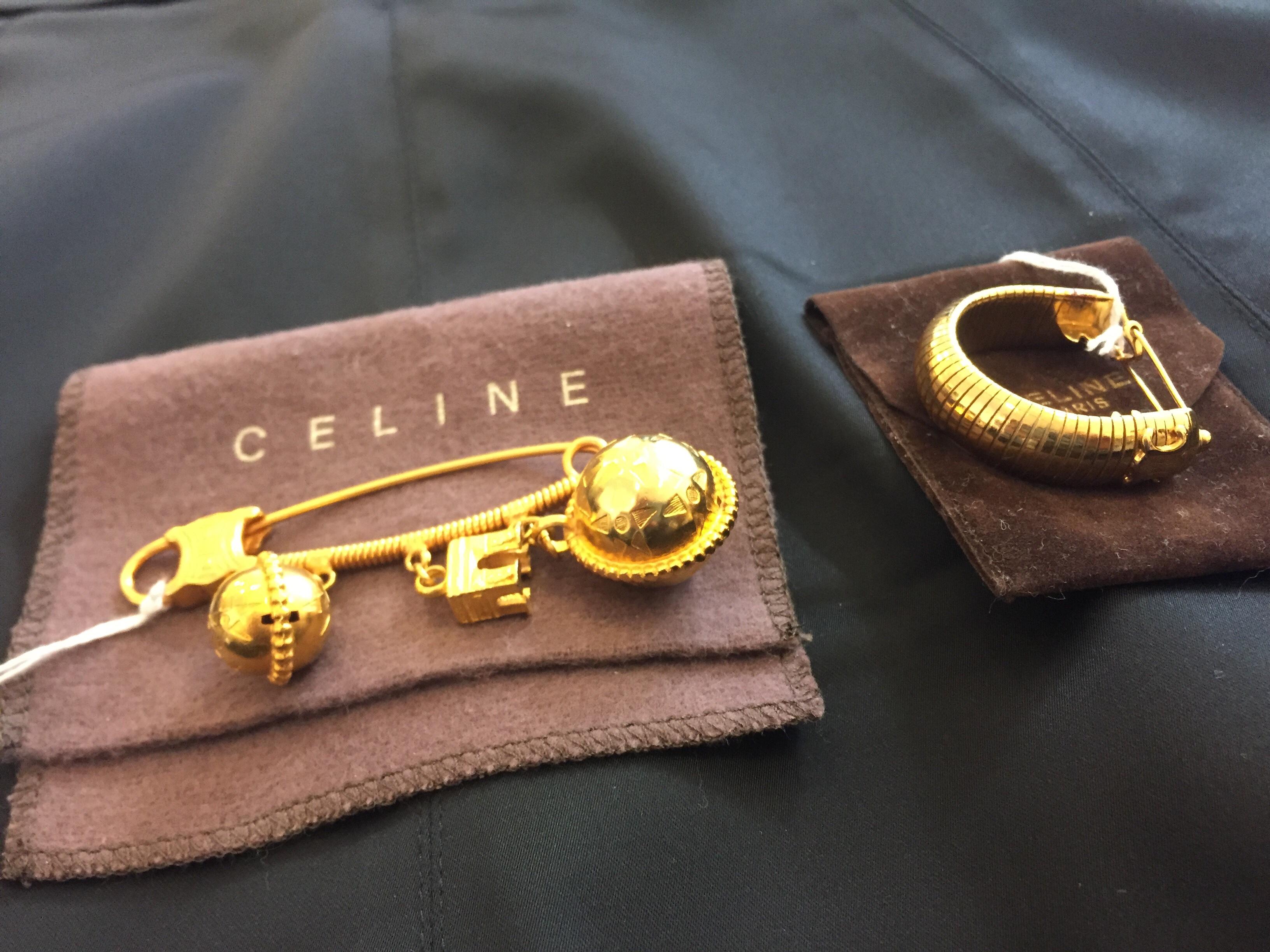 Vackra Accessoarer Från Celine, Broch & Hårsnodd SÅLD