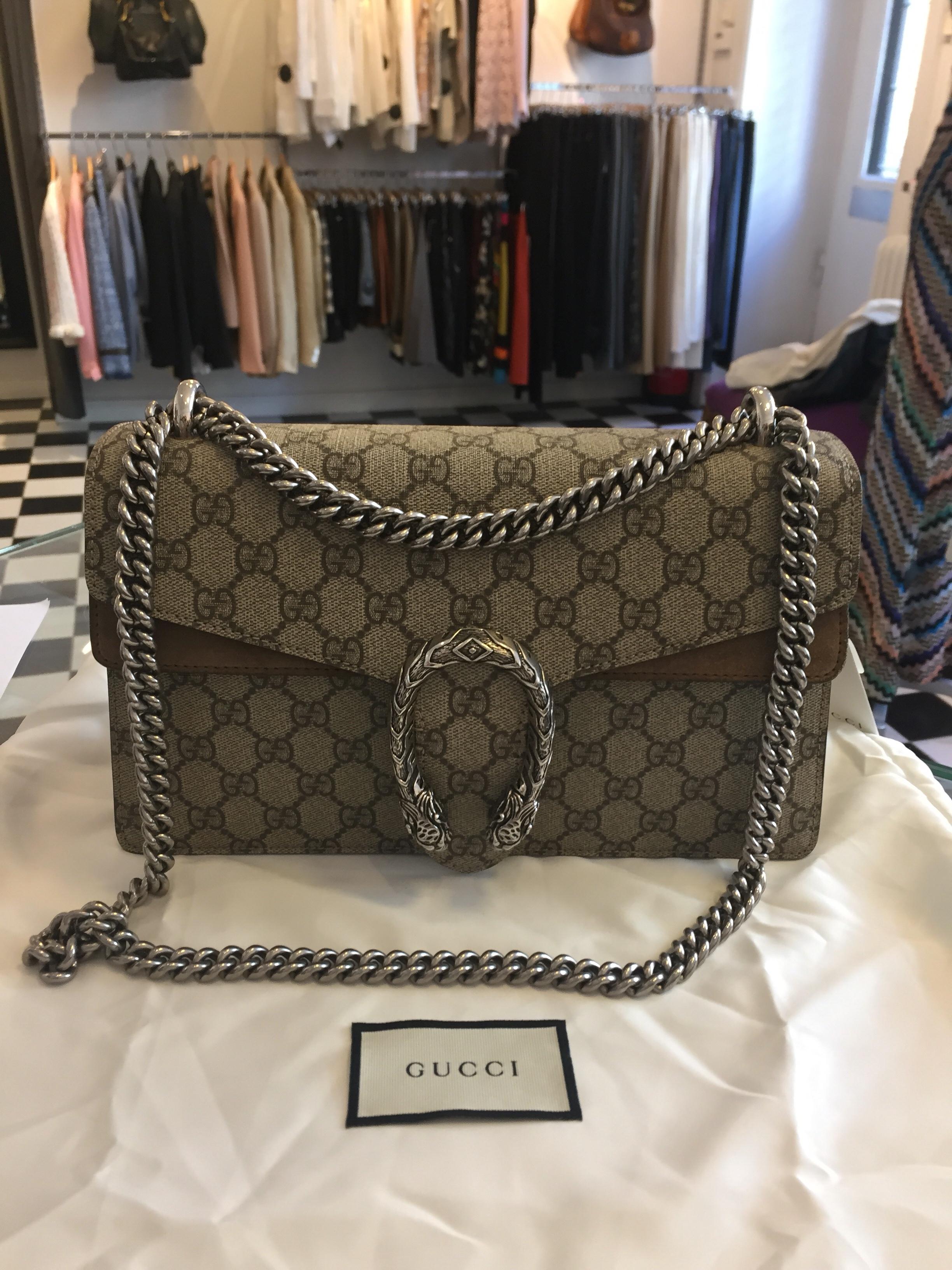 Fantastisk Gucci Dionysos GG Supreme Väska i toppskick SÅLD